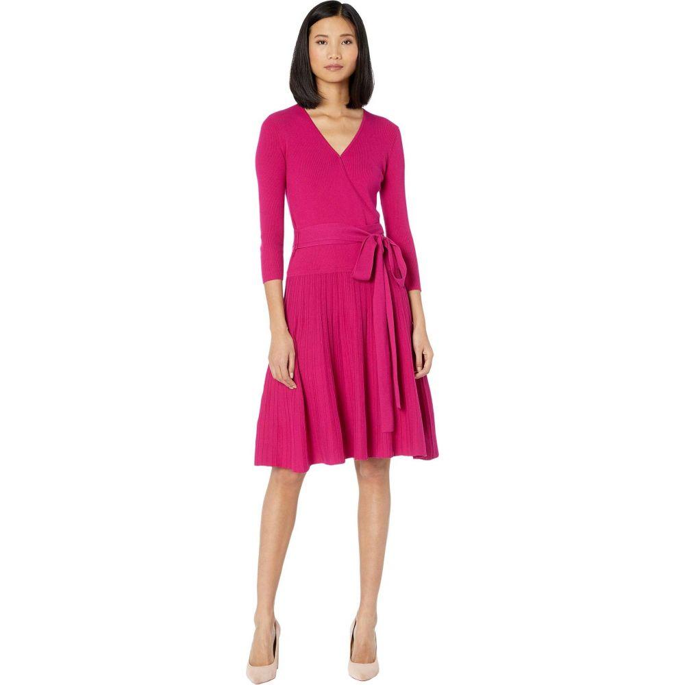 ラルフ ローレン LAUREN Ralph Lauren レディース ワンピース ワンピース・ドレス【Cotton-Blend Surplice Dress】Bright Fuchsia