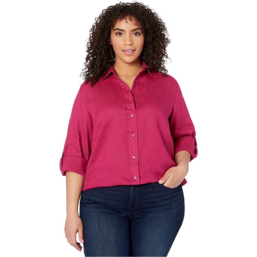 ラルフ ローレン LAUREN Ralph Lauren レディース ブラウス・シャツ 大きいサイズ トップス【Plus Size Linen Shirt】Bright Fuchsia