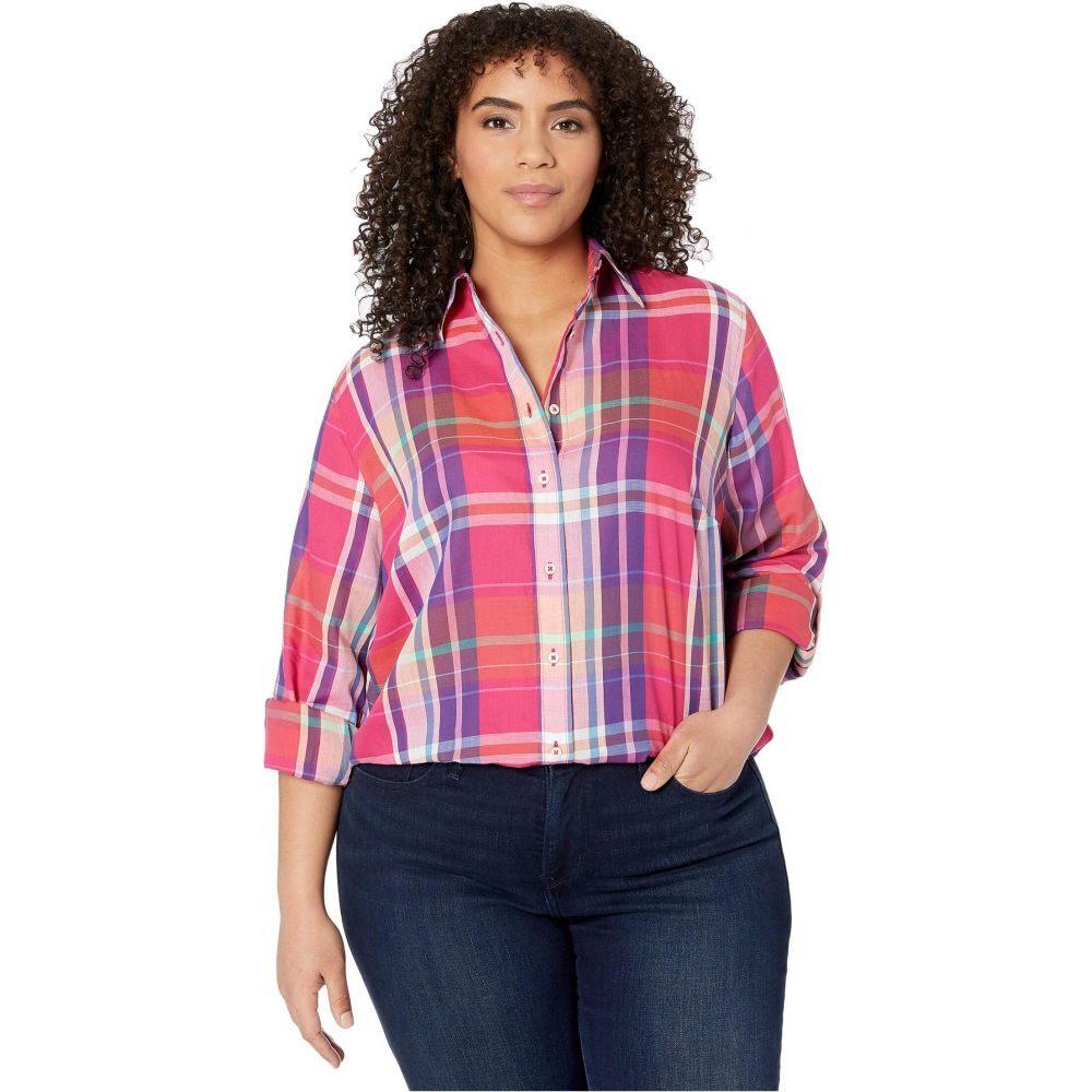 ラルフ ローレン LAUREN Ralph Lauren レディース ブラウス・シャツ 大きいサイズ トップス【Plus Size Plaid Cotton Twill Shirt】Pink Multi