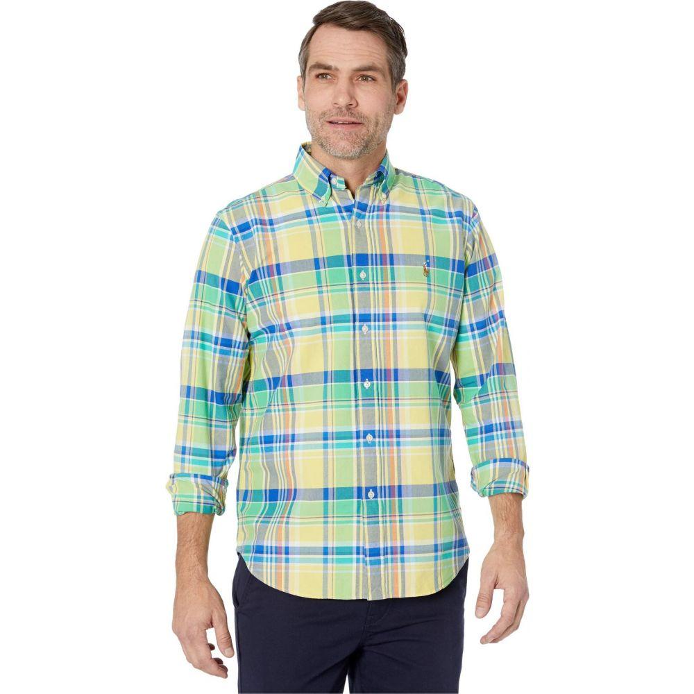 ラルフ ローレン Polo Ralph Lauren メンズ シャツ トップス【Classic Fit Oxford Shirt】Yellow/Green Multi