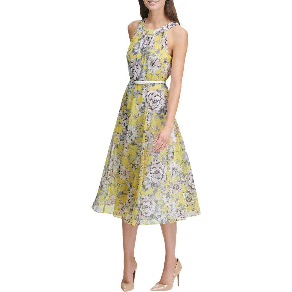トミー ヒルフィガー Tommy Hilfiger レディース ワンピース ワンピース・ドレス【Victoria Floral Chiffon Dress】Sunshine Multi
