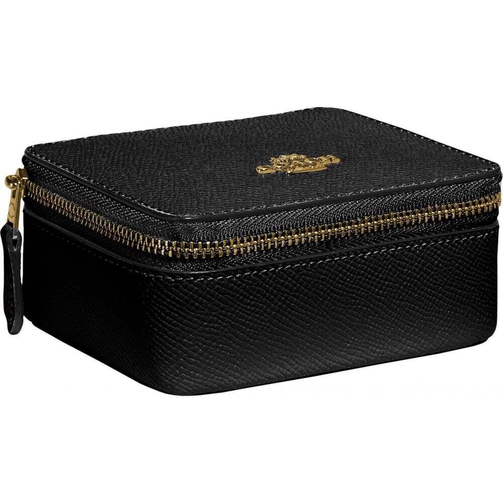 コーチ COACH レディース ポーチ ジュエリーケース【Cross Grain Leather Jewelry Box】Black