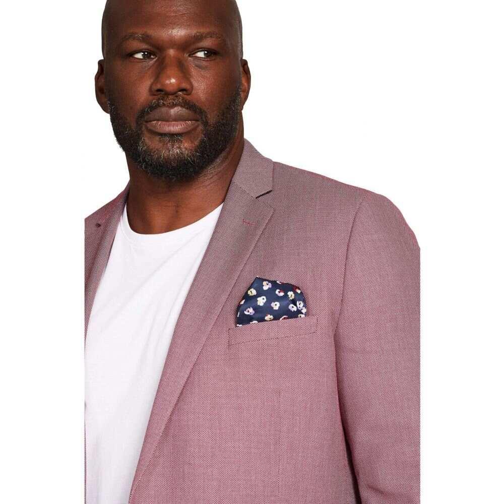 ジョニー ビッグ Johnny Bigg メンズ スーツ・ジャケット 大きいサイズ アウター【Big & Tall Chace Textured Blazer】Pink