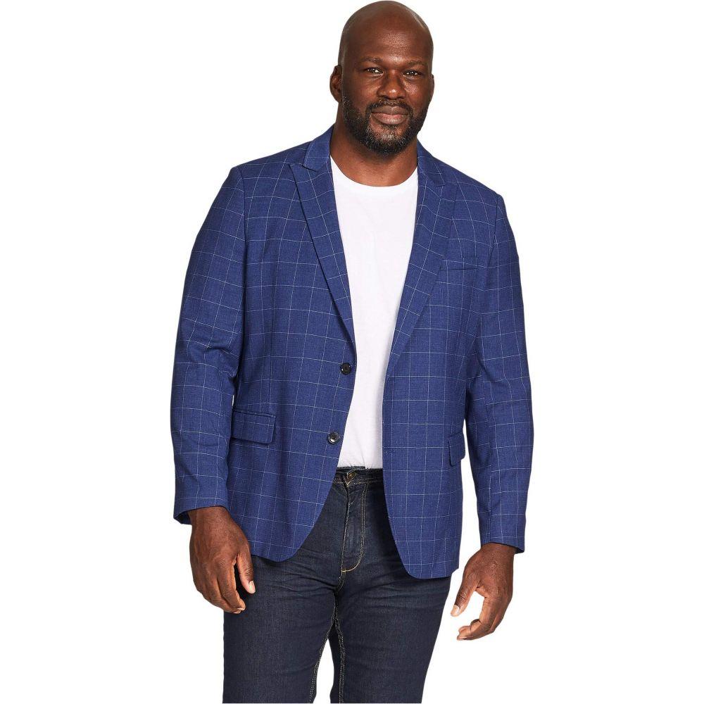 ジョニー ビッグ Johnny Bigg メンズ スーツ・ジャケット 大きいサイズ アウター【Big & Tall Reggie Check Stretch Blazer】Blue