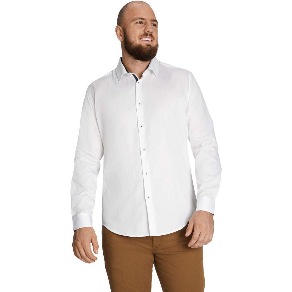 ジョニー ビッグ Johnny Bigg メンズ シャツ 大きいサイズ トップス【Big & Tall Hawke Textured Shirt】White