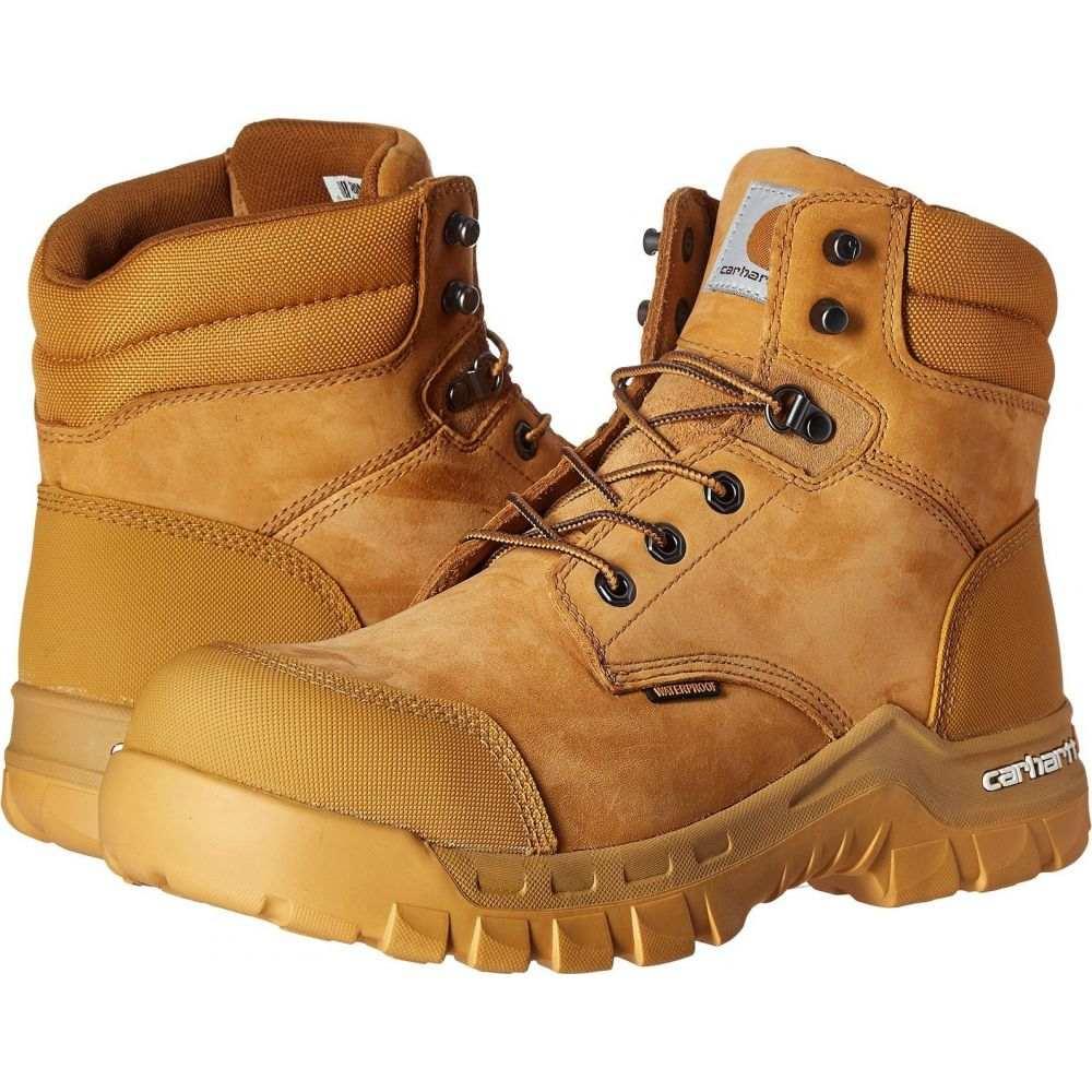カーハート Carhartt メンズ ブーツ ワークブーツ シューズ・靴【6' Rugged Flex Waterproof Comp Toe Work Boot】Wheat Oil Tanned Leather