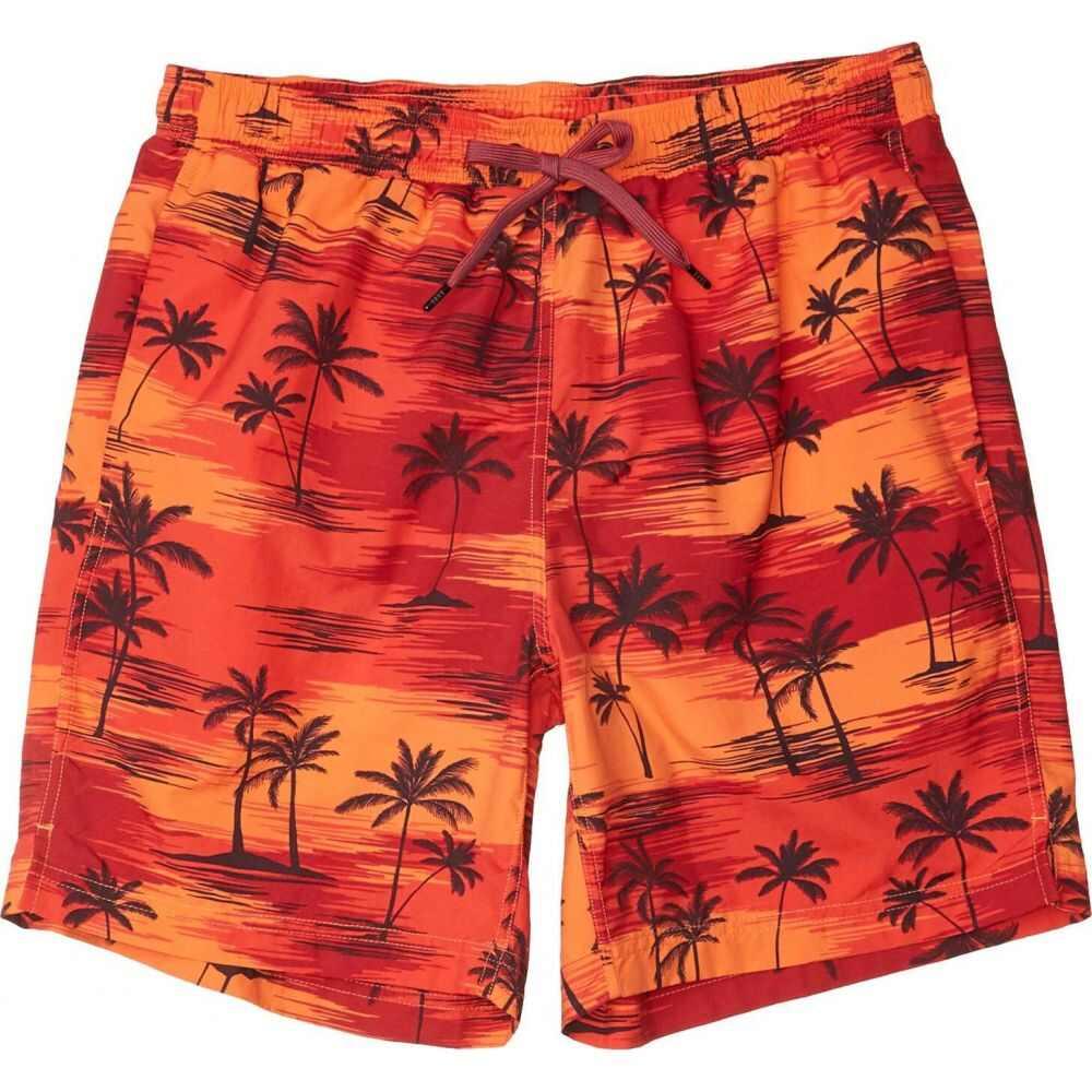 サックス SAXX UNDERWEAR メンズ 海パン ショートパンツ 水着・ビーチウェア【CannonBall 2N1 Shorts】Red Palm Sunset