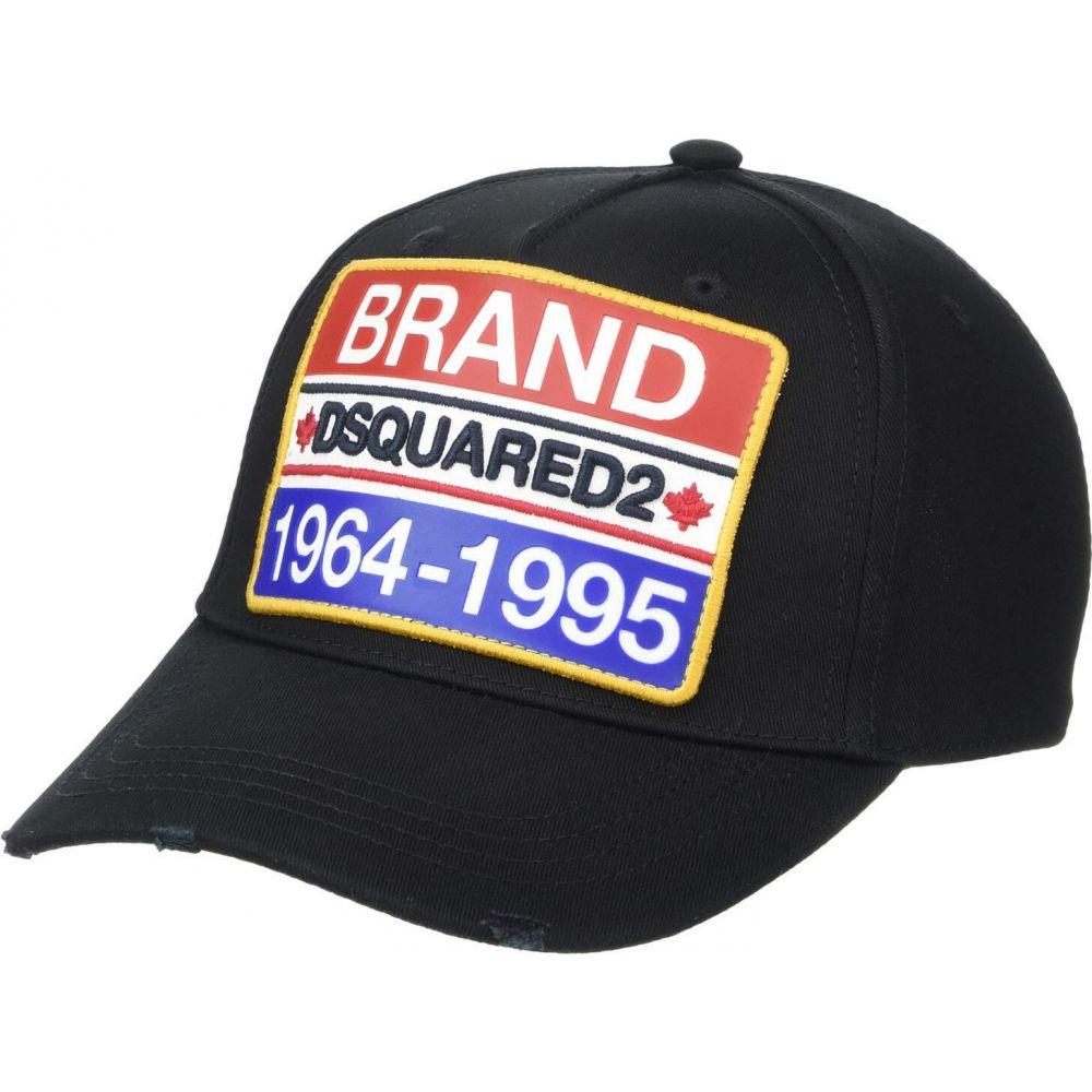 ディースクエアード DSQUARED2 メンズ キャップ ベースボールキャップ 帽子【Brand Baseball Cap】Black