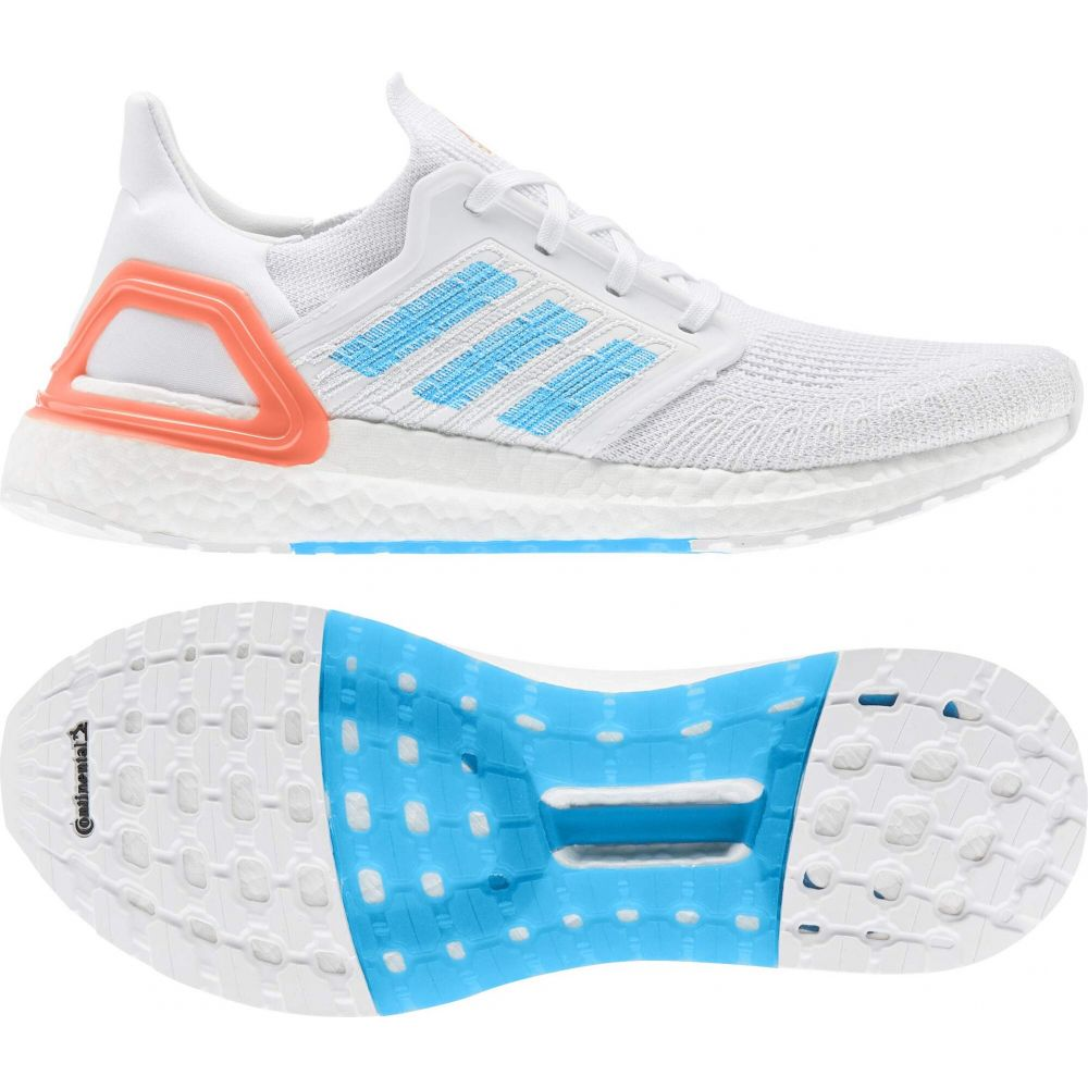 アディダス adidas Running メンズ ランニング・ウォーキング シューズ・靴【Ultraboost 20 Primeblue】Footwear White/Sharp Blue/True Orange