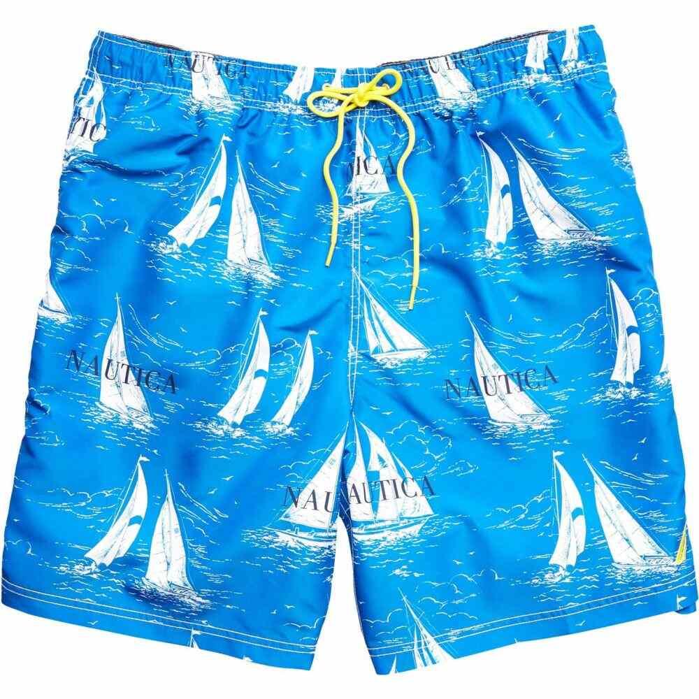 ノーティカ Nautica Big & Tall メンズ 海パン 大きいサイズ 水着・ビーチウェア【Big & Tall 8' Vintage Boat Printed Swim Trunks】Blue