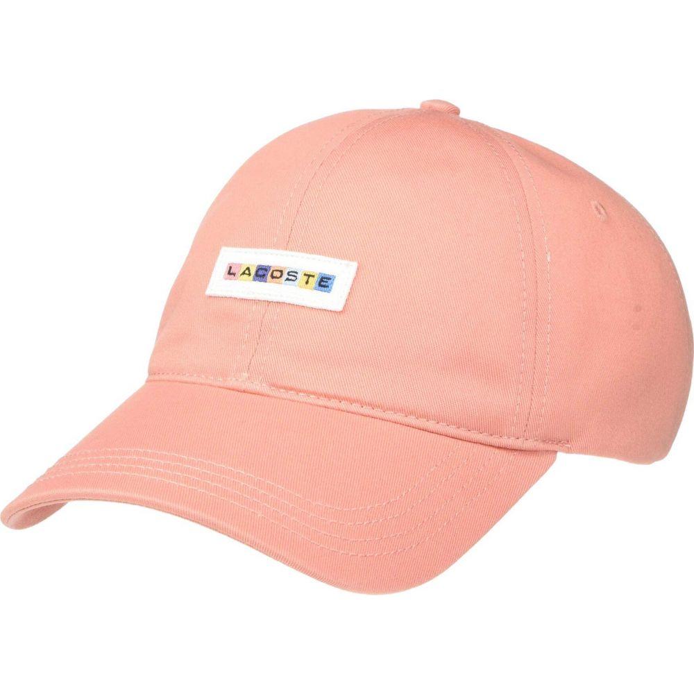 ラコステ Lacoste メンズ キャップ 帽子【Casual Graphic Twill Cap】Elf Pink