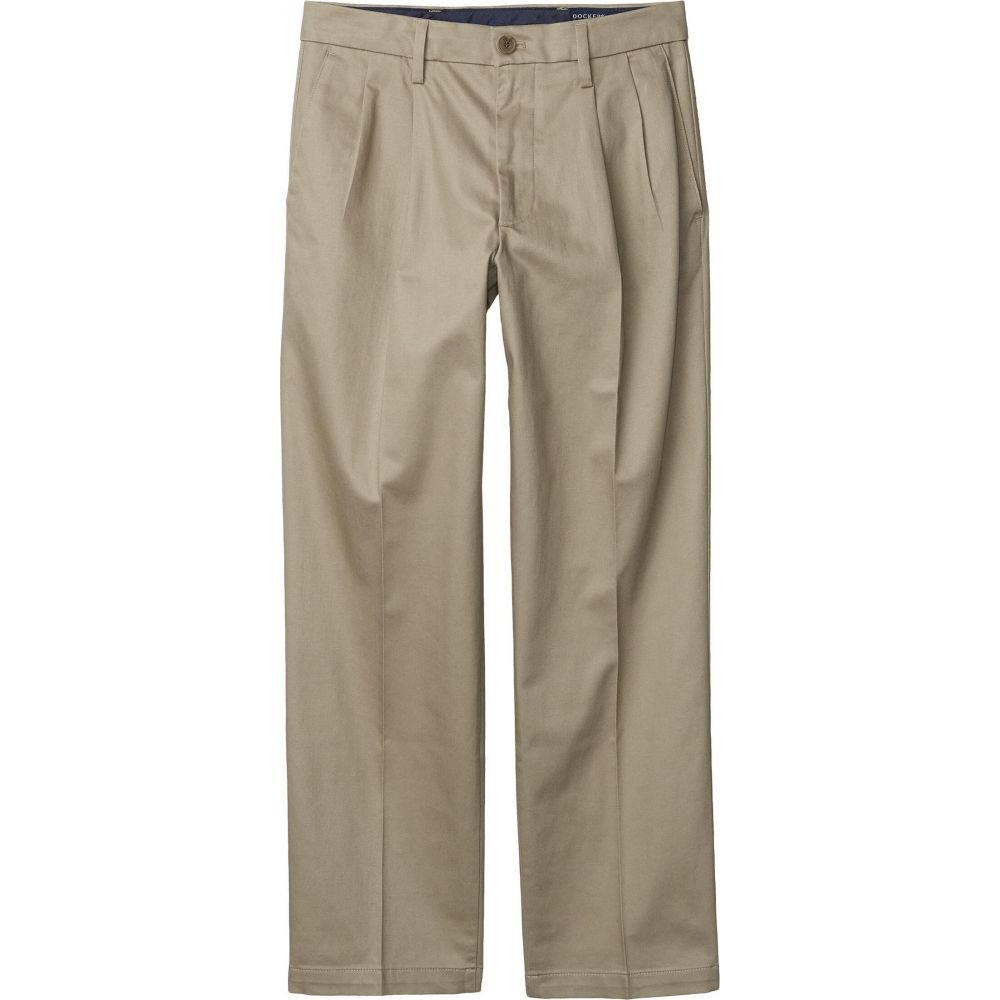 ドッカーズ Dockers メンズ ボトムス・パンツ 【Straight Fit Signature Khaki Lux Cotton Stretch Pants - Pleated】Timber Wolf