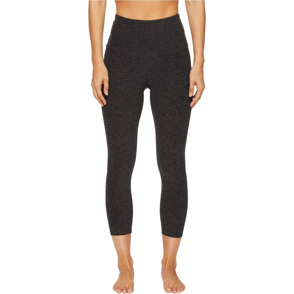 ビヨンドヨガ Beyond Yoga レディース スパッツ・レギンス インナー・下着【Spacedye High Waisted Capri Leggings】Black/Charcoal Spacedye
