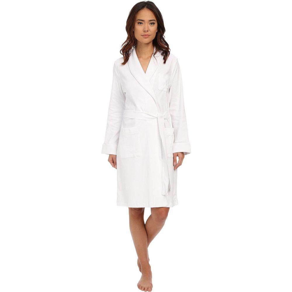 ラルフ ローレン LAUREN Ralph Lauren レディース ガウン・バスローブ インナー・下着【Essentials Quilted Collar and Cuff Robe】White