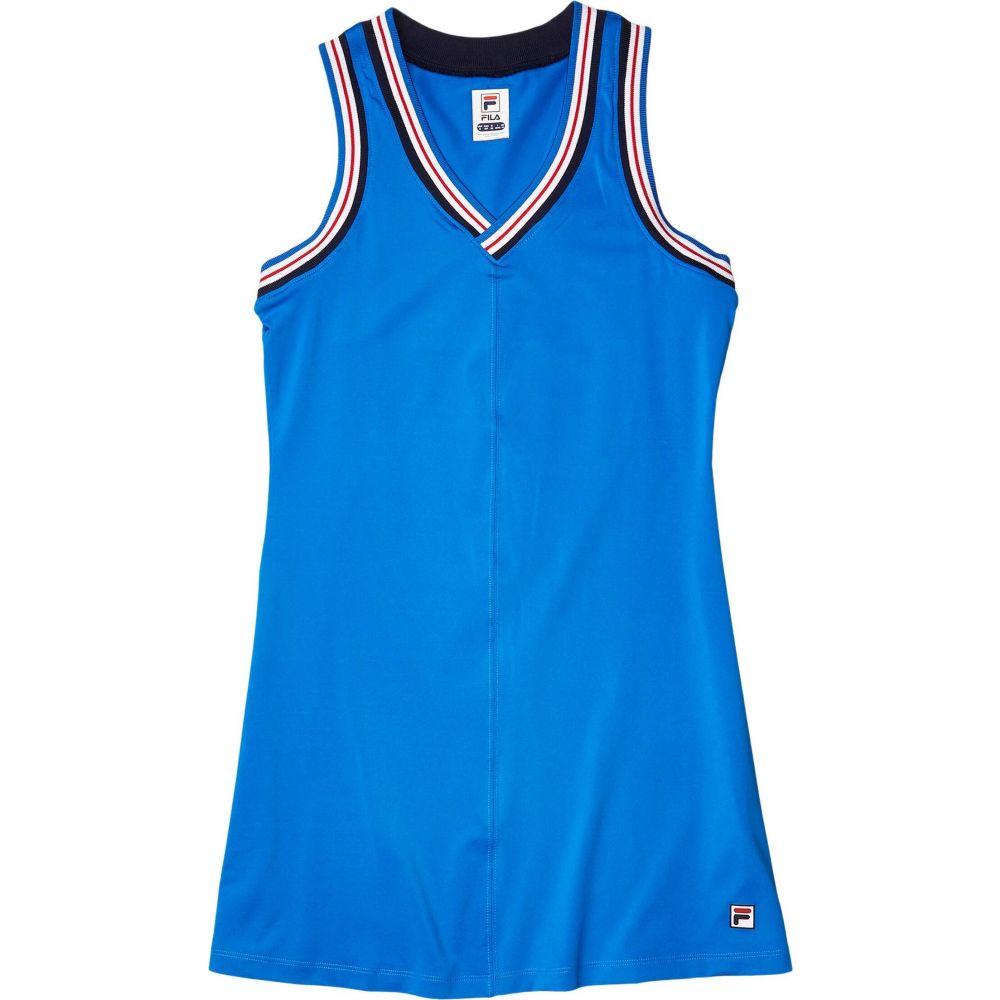 フィラ Fila レディース ワンピース ワンピース・ドレス【Heritage Tennis Dress】Electric Blue/White