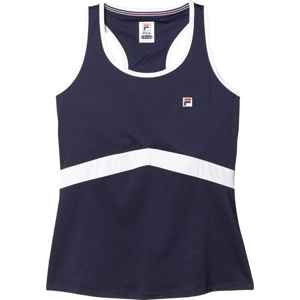 フィラ Fila レディース テニス タンクトップ トップス【Heritage Tennis Racerback Tank Top】Navy/White