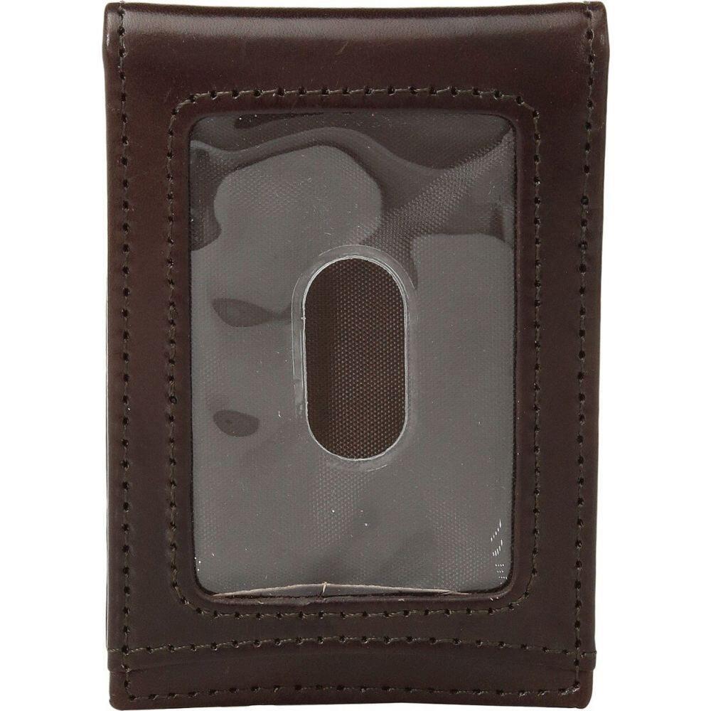 ジョンストン&マーフィー Johnston & Murphy メンズ マネークリップ 二つ折り【Two Fold Money Clip】Brown Smooth Leather