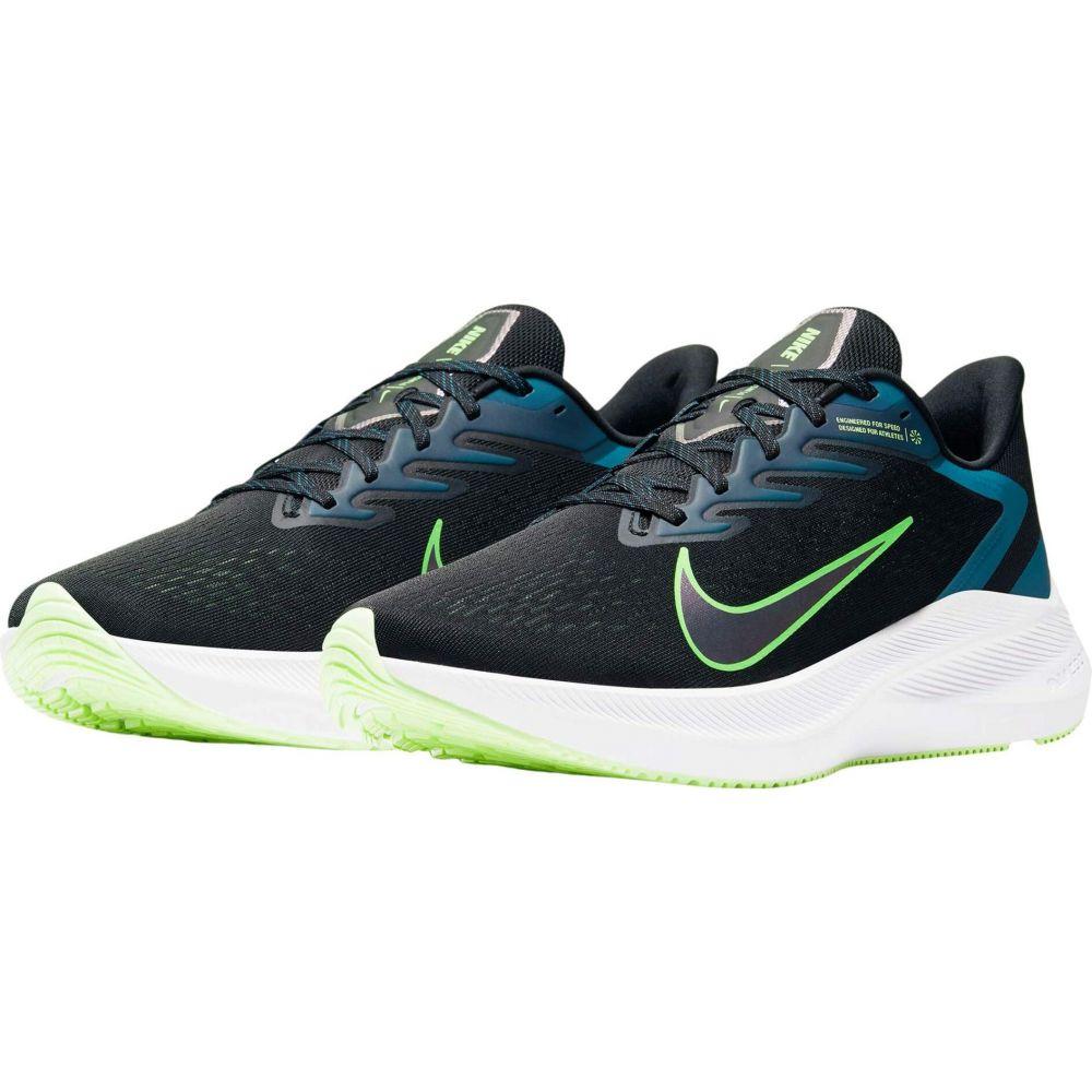 ナイキ Nike メンズ ランニング・ウォーキング シューズ・靴【Zoom Winflo 7】Black/Vapor Green/Valerian Blue