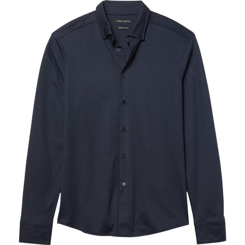 ヴィンス カムート Vince Camuto メンズ シャツ トップス【Pique Knit Sport Shirt】Navy