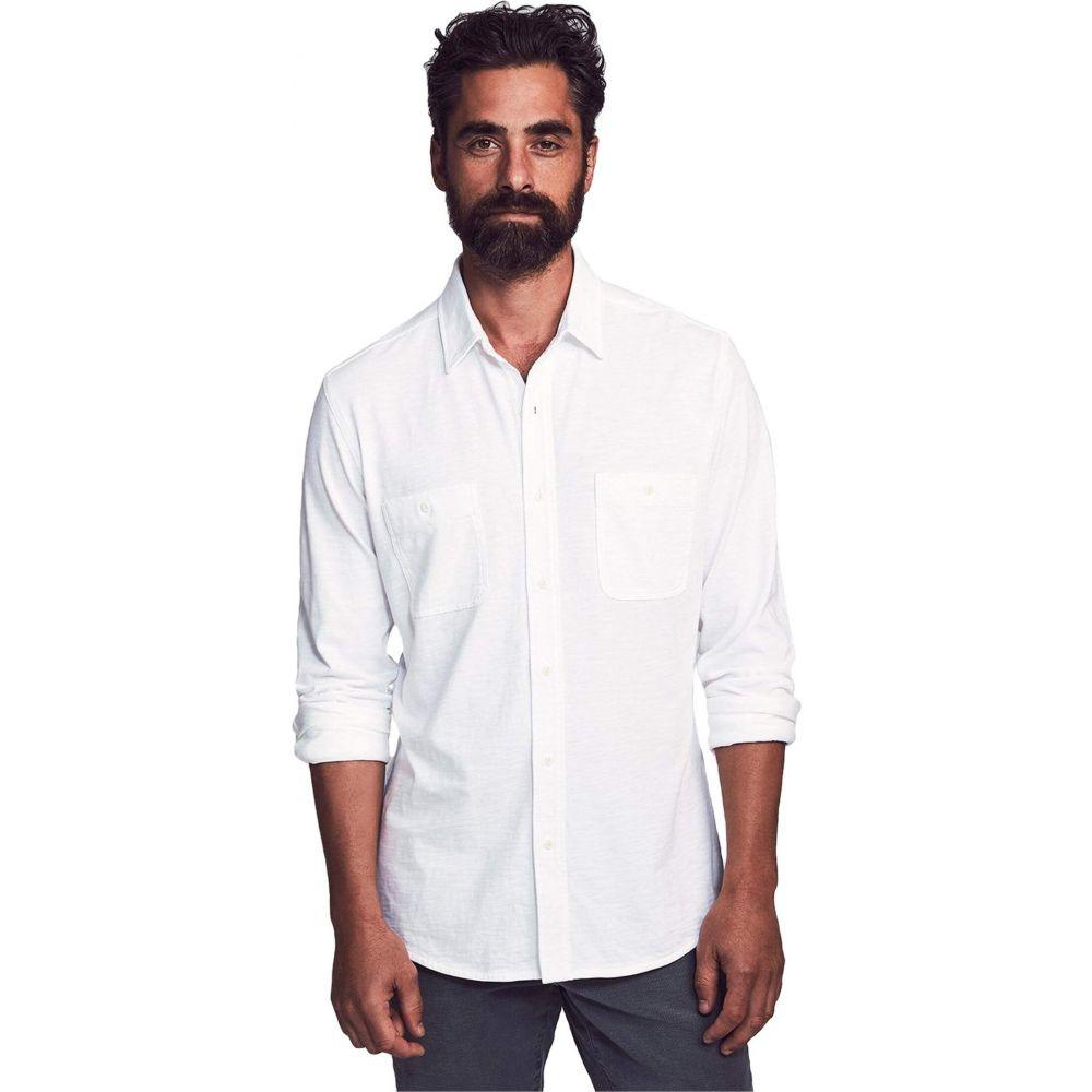 ファレティ Faherty メンズ シャツ トップス【Knit Seasons Shirt】White