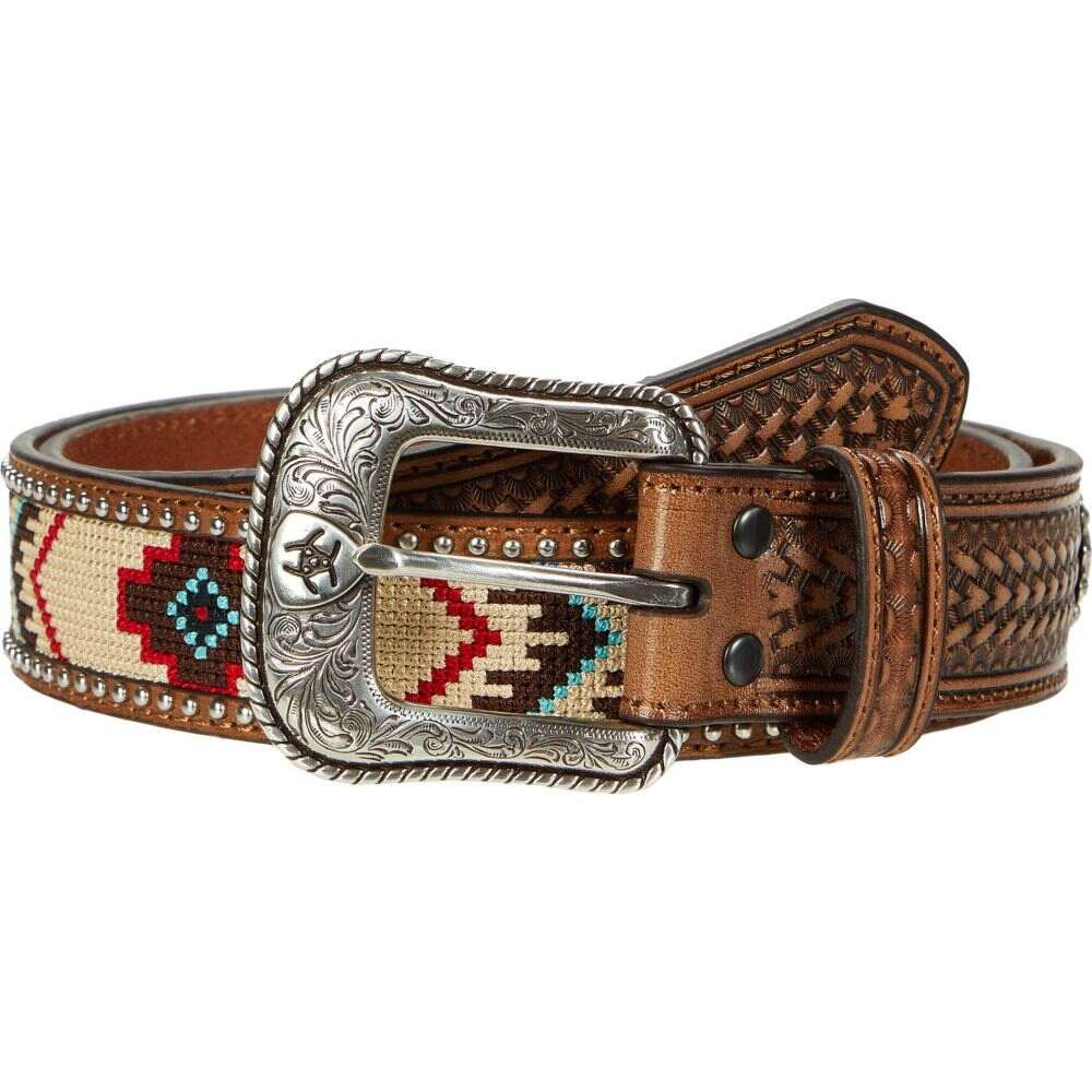 アリアト Ariat メンズ ベルト 【Aztec Embroidery Belt】Natural/Multi