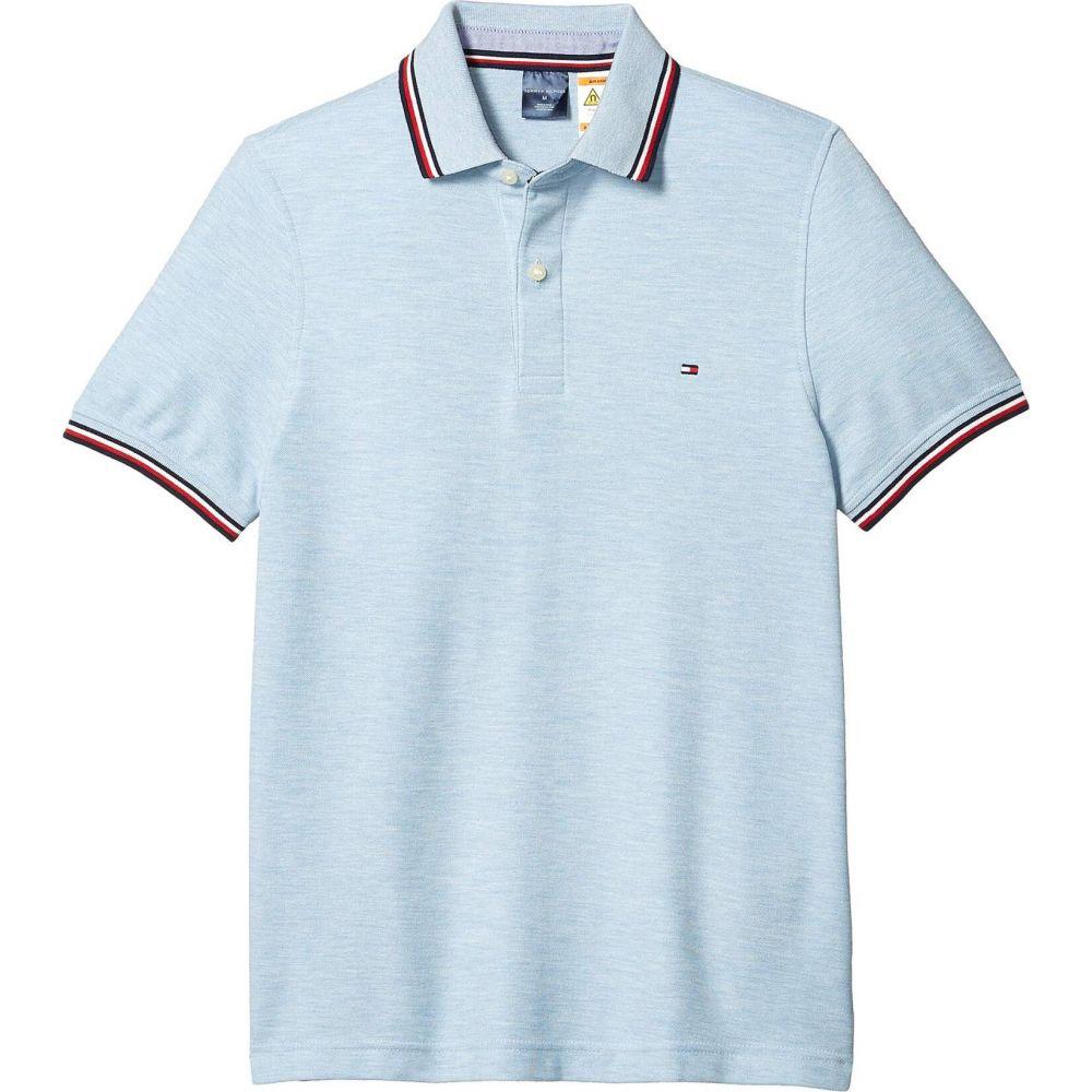 トミー ヒルフィガー Tommy Hilfiger Adaptive メンズ ポロシャツ トップス【Polo Shirt with Wicking and Magnetic Buttons Custom Fit】Chambray Blue Heather