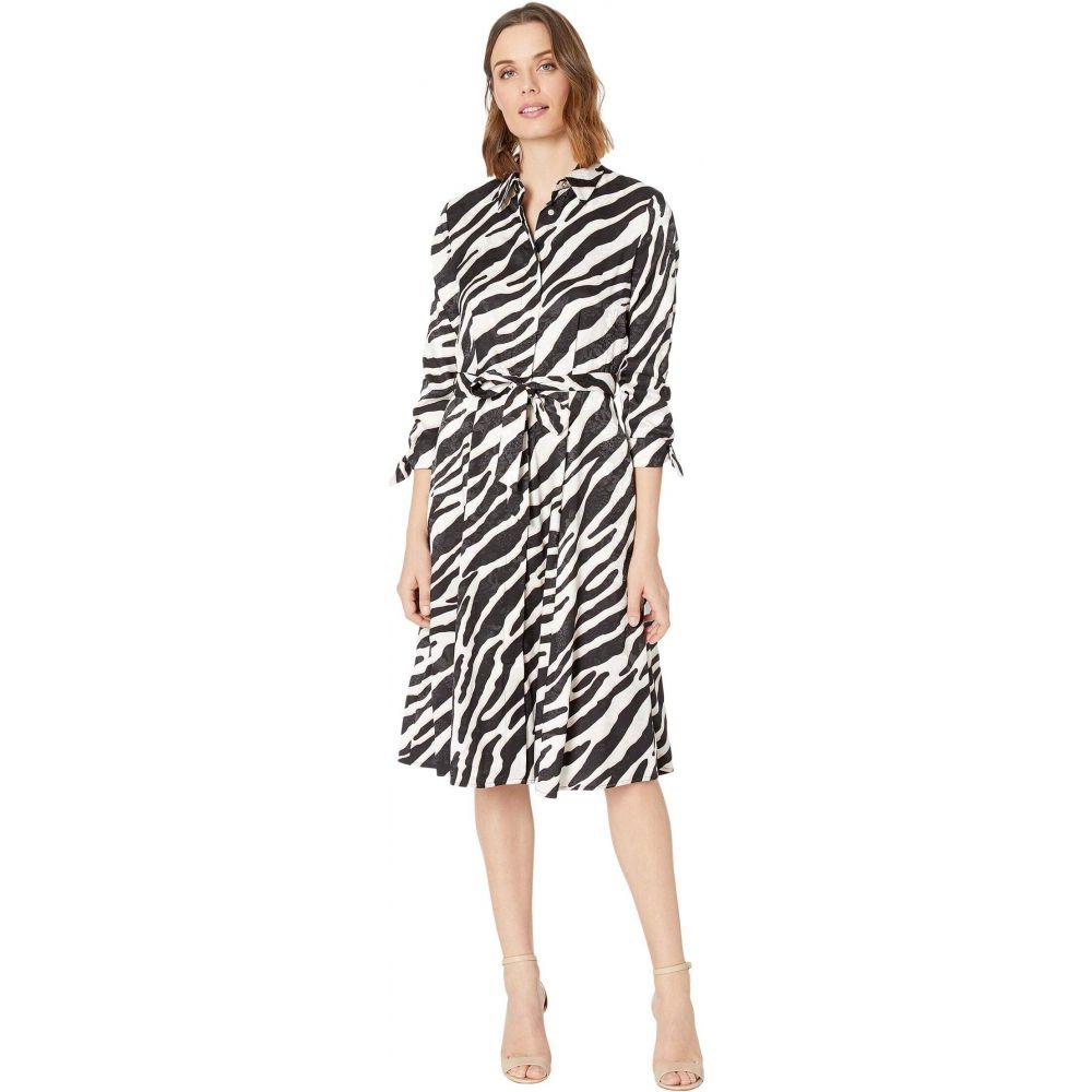 カルバンクライン Calvin Klein レディース ワンピース シャツワンピース ワンピース・ドレス【Belted Animal Print Shirtdress】Petal Multi