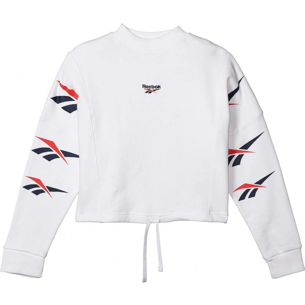 リーボック Reebok レディース スウェット・トレーナー トップス【Vector Repeat Crew Sweatshirt】White