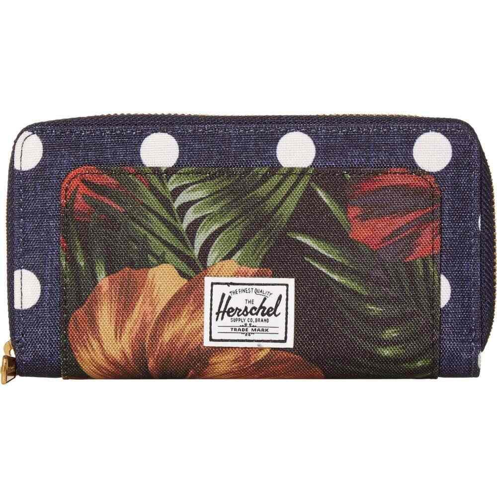 ハーシェル サプライ Herschel Supply Co. レディース 財布 【Thomas RFID Wallet】Polka Dot Crosshatch Peacoat Small/Tropical Hibiscus