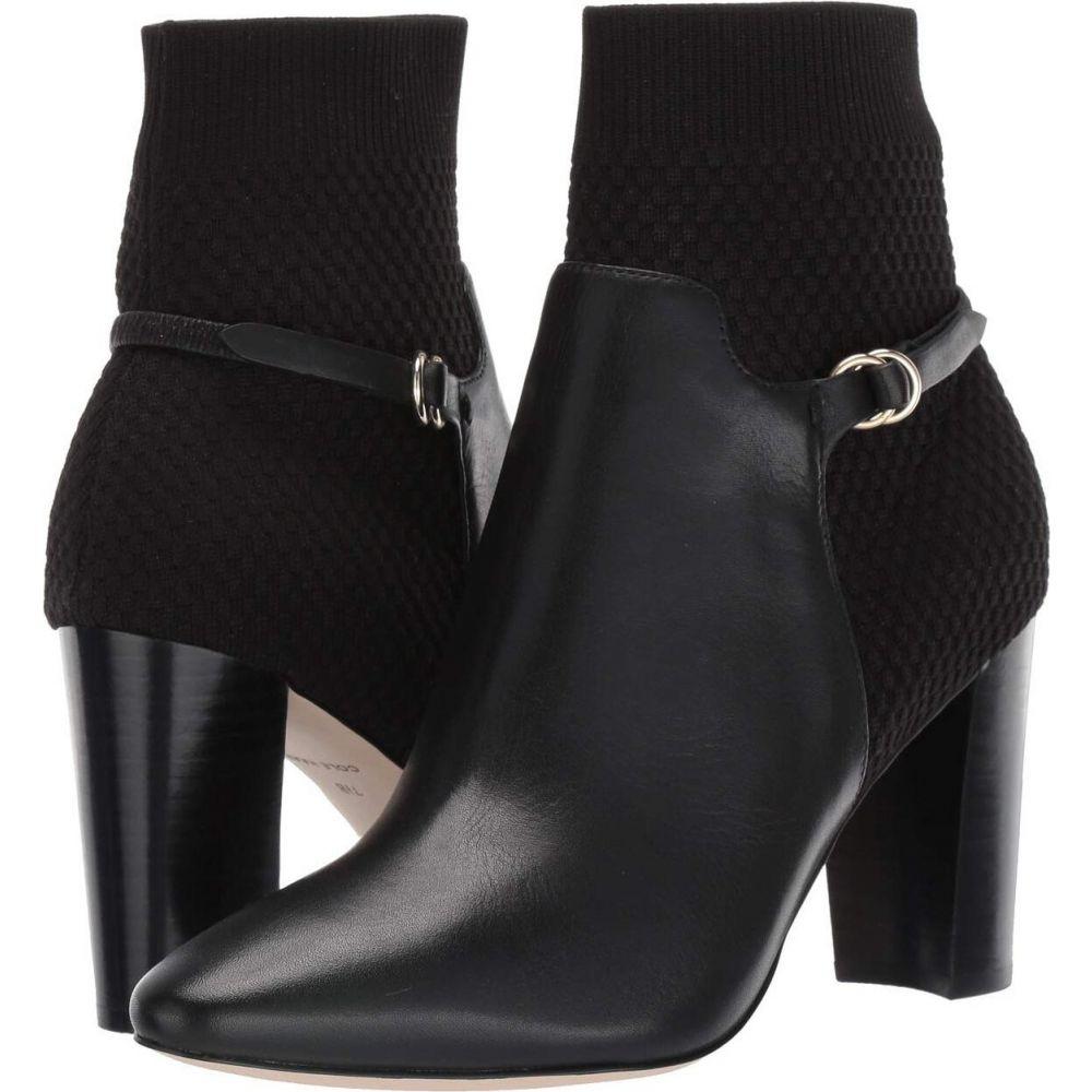コールハーン Cole Haan レディース ブーツ シューズ・靴【Camille Bootie 85 mm】Black Leather/Tonal Knit/Black Stack