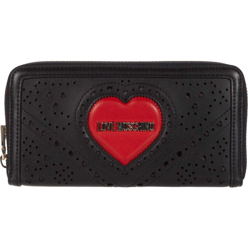 モスキーノ LOVE Moschino レディース 財布 【Perforated Zip Around Wallet】Black