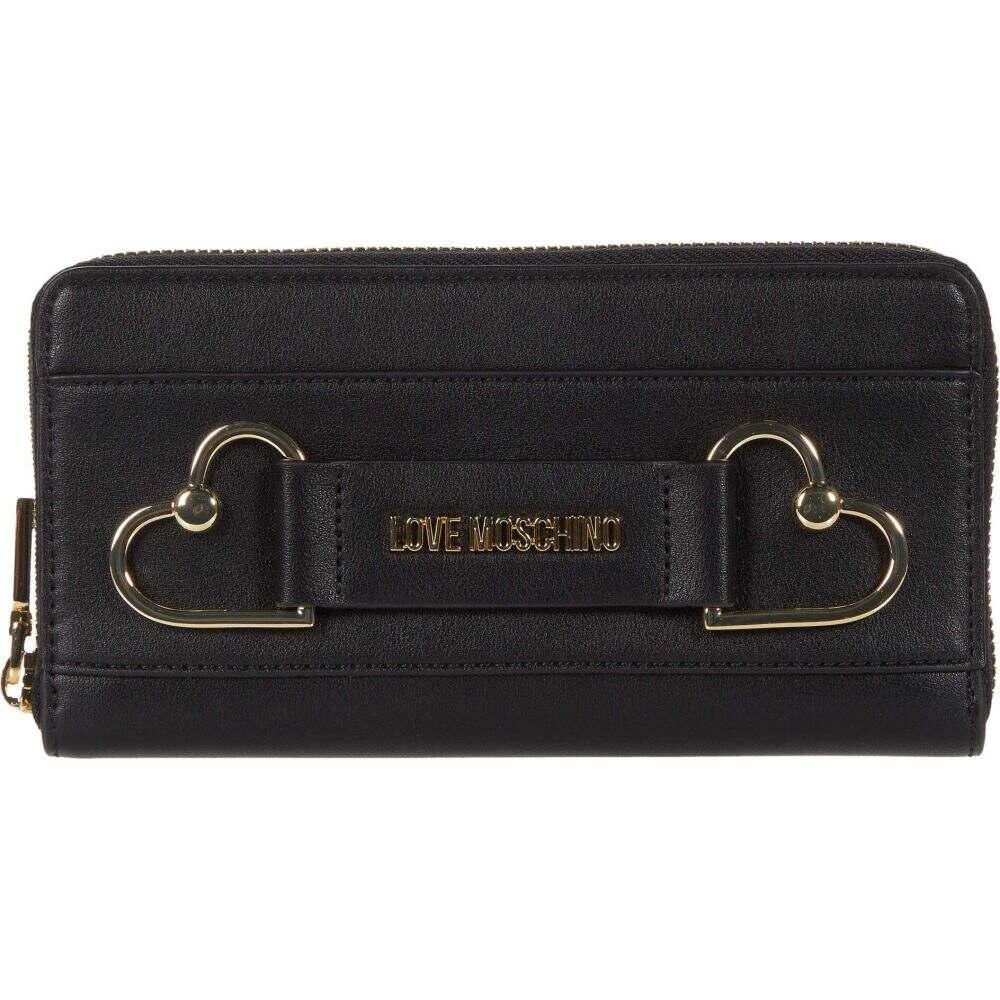 モスキーノ LOVE Moschino レディース 財布 【Heart Zip Around Wallet】Black