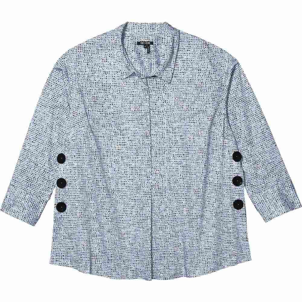 ニックゾー NIC+ZOE レディース チュニック 大きいサイズ トップス【Plus Size Naples Tunic Shirt】Blue Multi