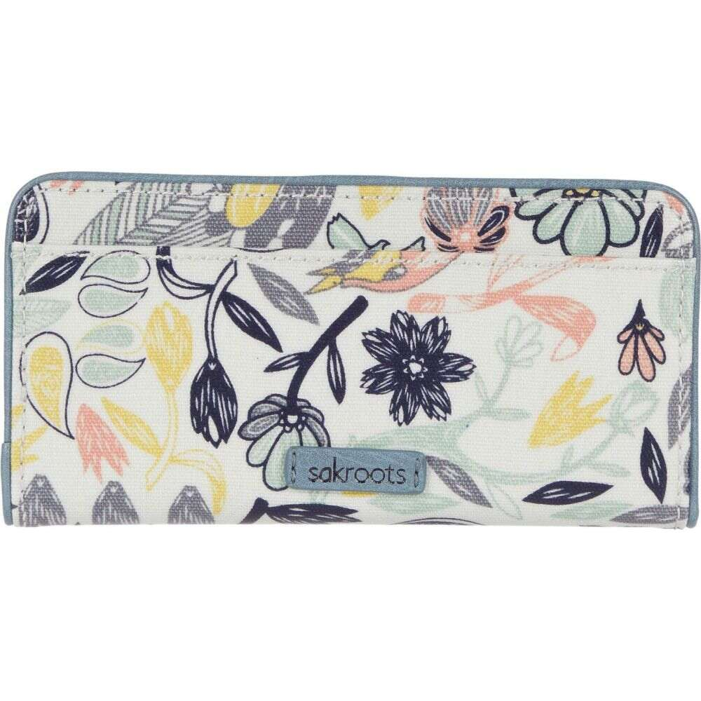 サックルーツ Sakroots レディース 財布 【Artist Circle Slim Wallet】Multi Peace Birds