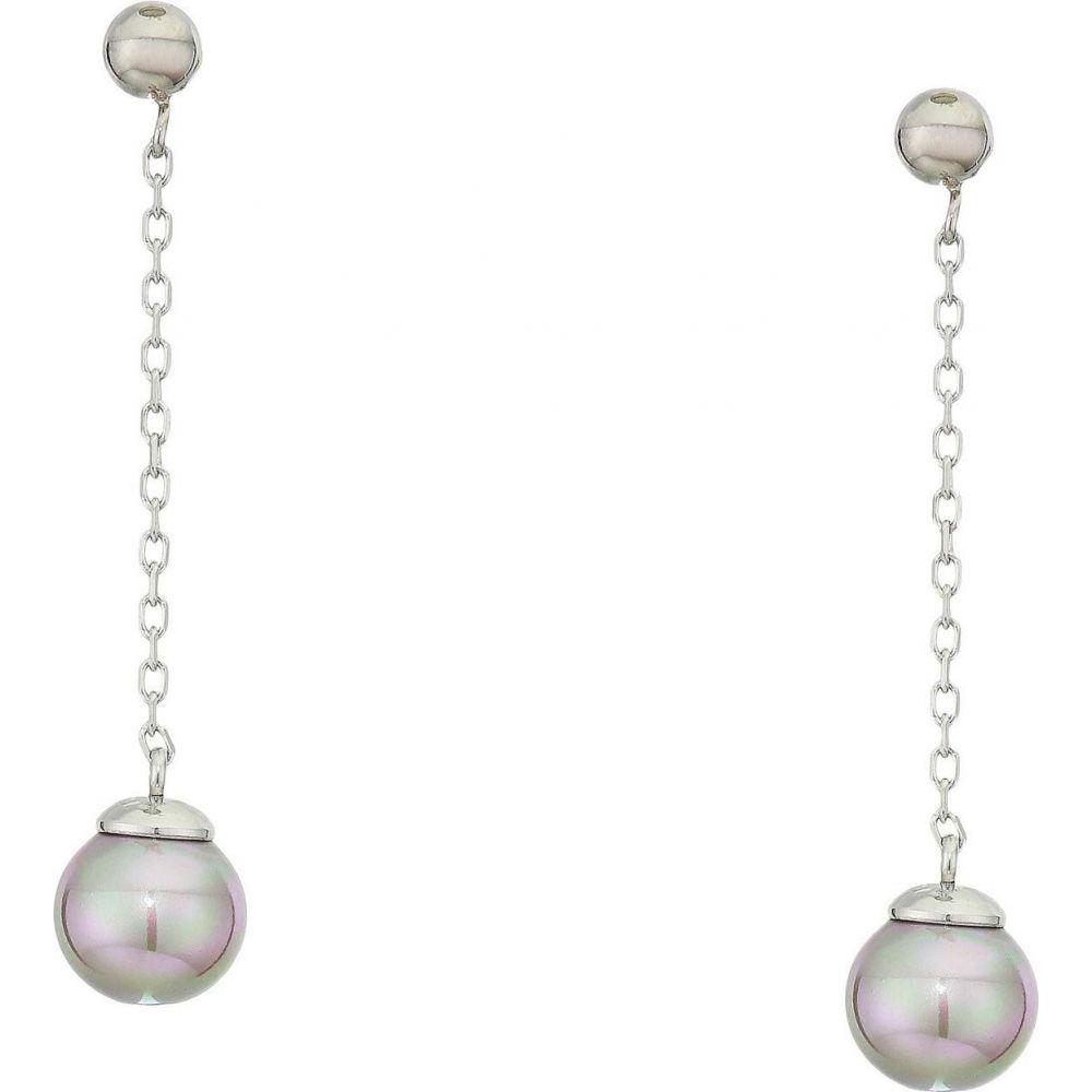 マジョリカ Majorica レディース イヤリング・ピアス ドロップピアス ジュエリー・アクセサリー【8 mm Illusion Round Pearl Drop Earrings】White