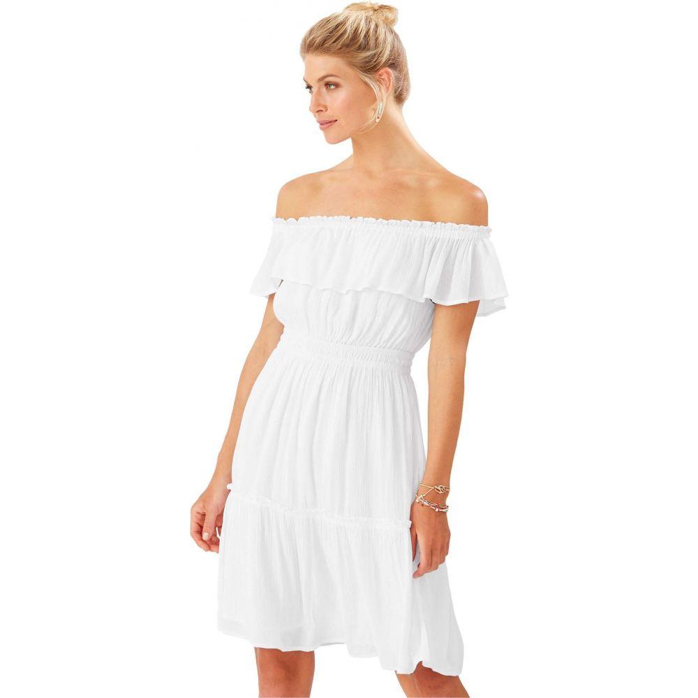 トミー バハマ Tommy Bahama レディース ワンピース ワンピース・ドレス【Caicos Crinkle Off-the-Shoulder Short Dress】White