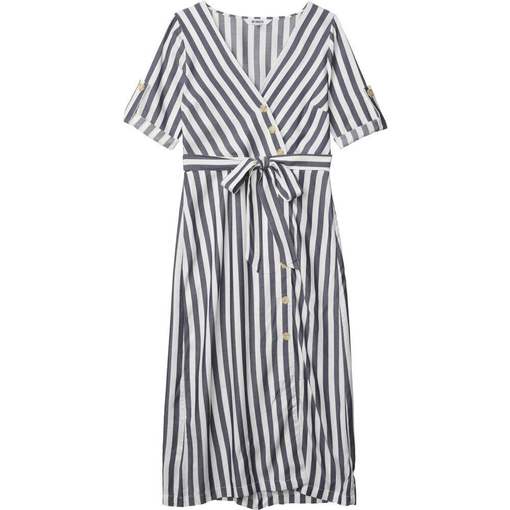 ビービーダコタ BB Dakota レディース ワンピース ワンピース・ドレス【Set Sail Yarn-Dyed Rayon Stripe Asymmetric Button Front Dress】Navy