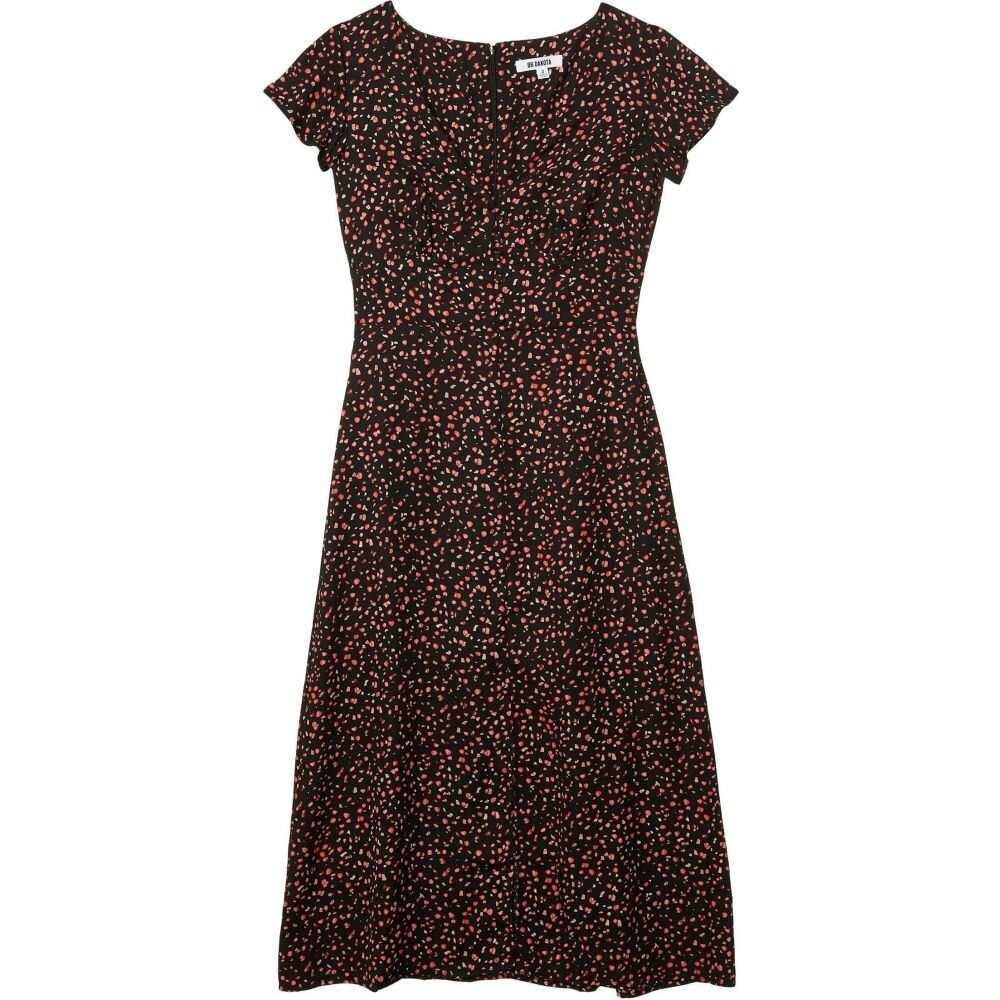 ビービーダコタ BB Dakota レディース ワンピース ミドル丈 ワンピース・ドレス【Heavy Petals 'Party Confetti' Printed CDC Midi Dress】Black
