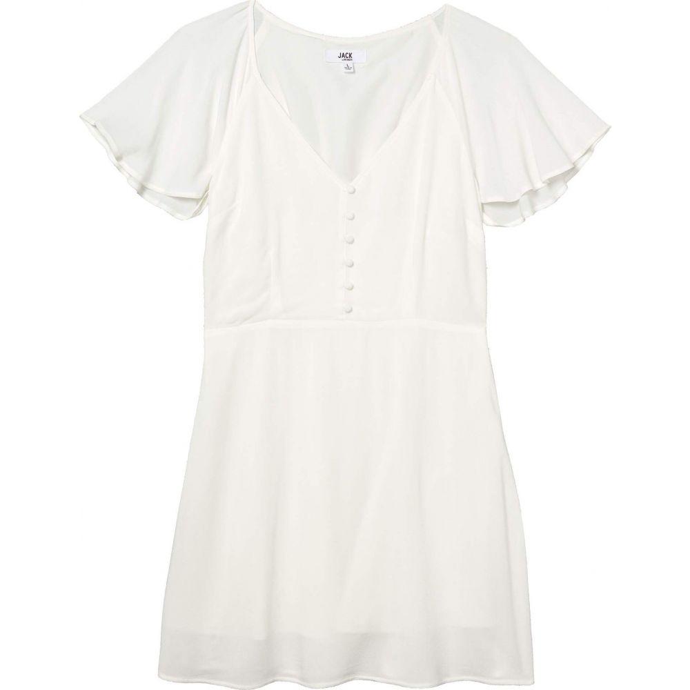 ジャック バイ ビービーダコタ Jack by BB Dakota レディース ワンピース ワンピース・ドレス【Rayon Crepe Button Front Dress with Back Smocking】Ivory