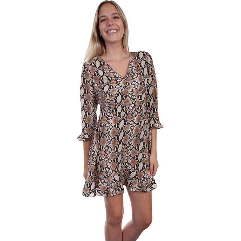 スカーリー Scully レディース ワンピース ワンピース・ドレス【Scarlett Python Print Dress】Brown