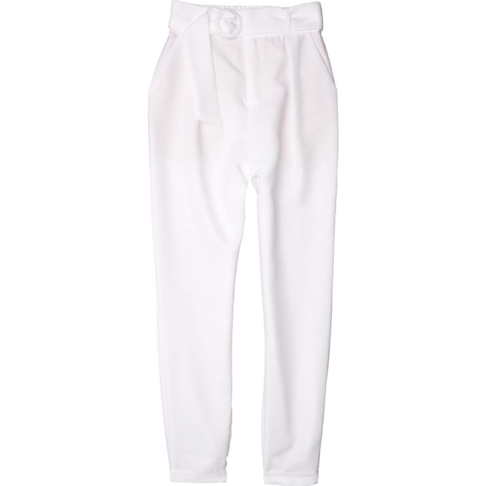 ビービーダコタ BB Dakota レディース ボトムス・パンツ 【Nice Hustle Textured Novelty Woven Belted Pants】Optic White