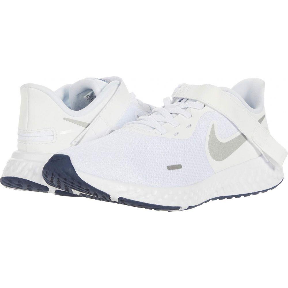 ナイキ Nike メンズ ランニング・ウォーキング シューズ・靴【Flyease Revolution 5】White/Metallic Silver/Midnight Navy
