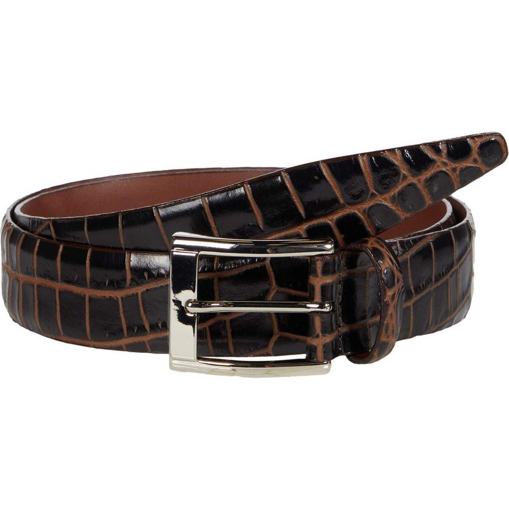トリノレザー Torino Leather Co. メンズ ベルト 【35 mm Italian Bicolor Croc Embossed Calf】Brown/Cognac