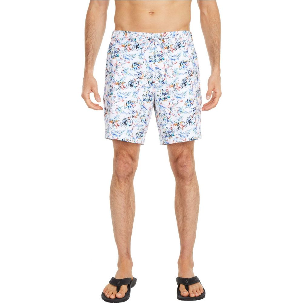 ロバートグラハム Robert Graham メンズ 海パン ショートパンツ 水着・ビーチウェア【Dragon Fly Swim Shorts】White
