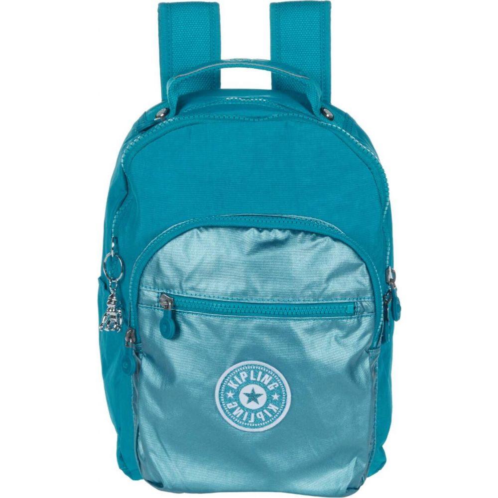 キプリング Kipling レディース バックパック・リュック バッグ【Seoul S Backpack】Turqouise Sea Metallic Block
