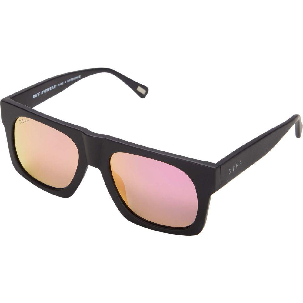 ディフアイウェア DIFF Eyewear レディース メガネ・サングラス 【Duke】Matte Black/Pink