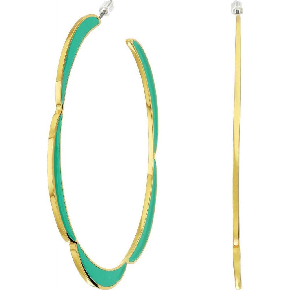 ケイト スペード Kate Spade New York レディース イヤリング・ピアス ジュエリー・アクセサリー【Sliced Scallops Enamel Hoops Earrings】Turquoise