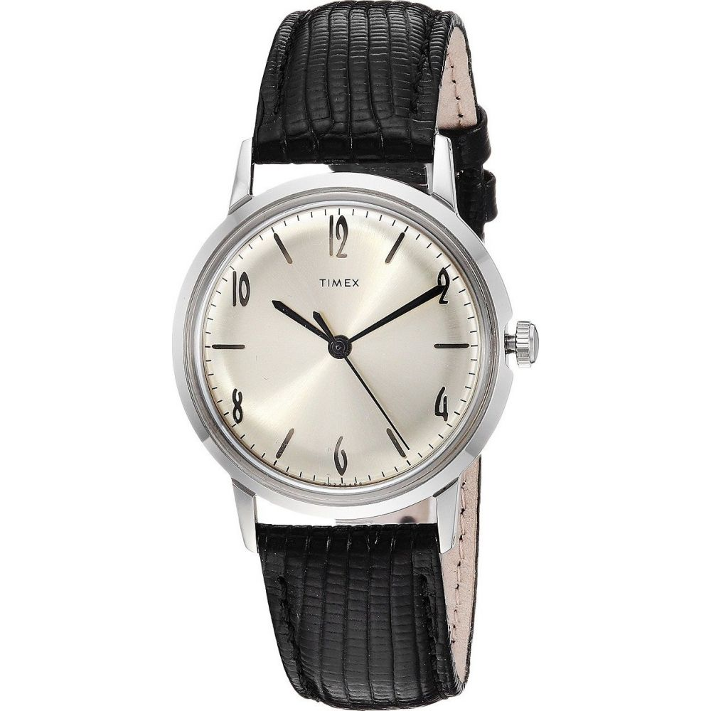 タイメックス Timex レディース 腕時計 【Marlin Stainless Steel Hand-Wound Movement】Black/Silver
