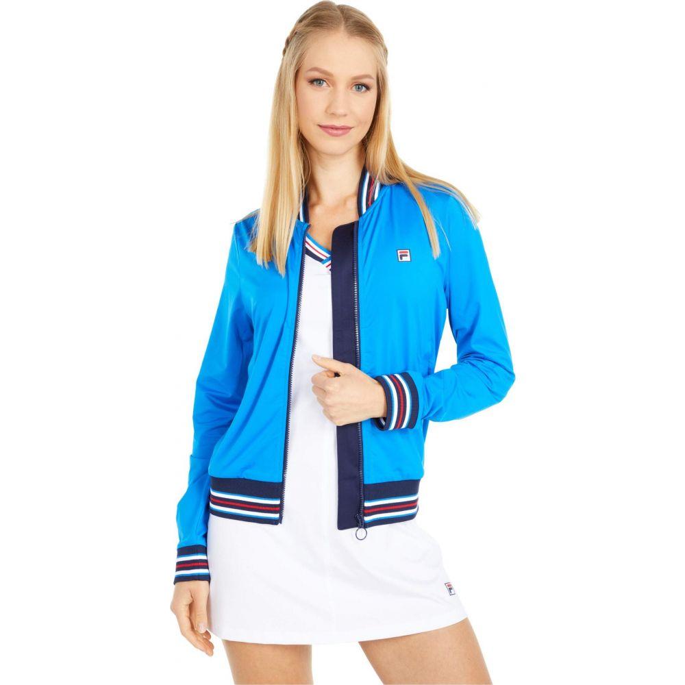フィラ Fila レディース ジャケット アウター【Heritage Tennis Jacket】Electric Blue/Navy/Navy