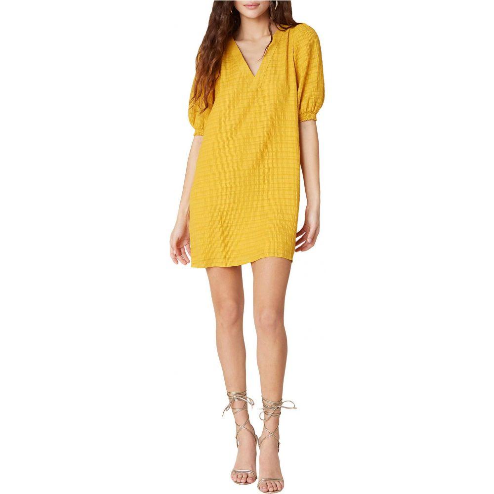 ビービーダコタ BB Dakota レディース ワンピース シフトドレス ワンピース・ドレス【Fields of Gold Textured Stripe Gauze Shift Dress】Sunny Yellow
